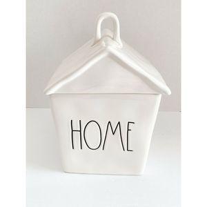"""Rae Dunn """"HOME"""" Birdhouse Canister Cookie Jar"""